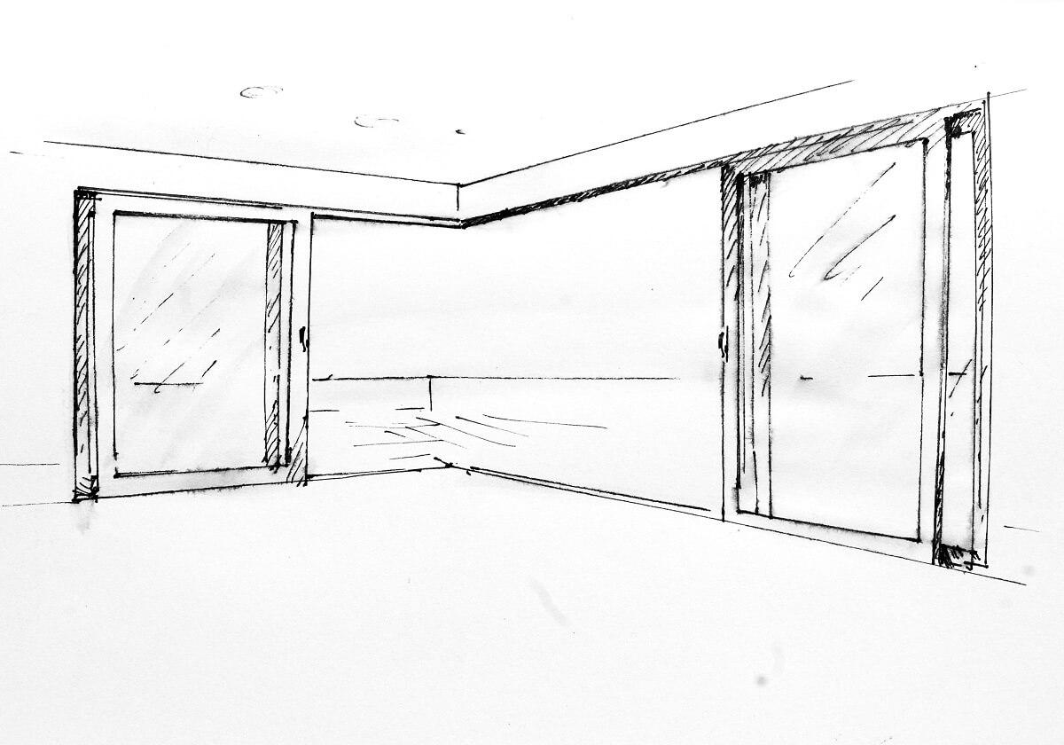 Drzwi narożne podnoszono-przesuwne Archislide