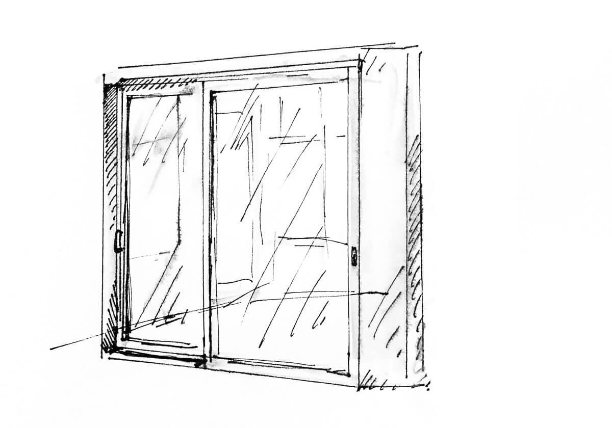 Drzwi podnoszono-przesuwne DP 180 z ukrytym napędem ePower